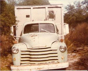 Dad's old truck years later. It used to be green.