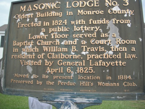 Masonic Lodge sign